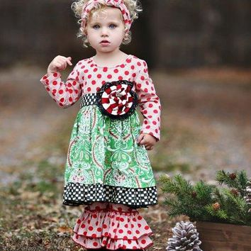 Mustard Pie 2017 Christmas Mystic Evergreen Emma Dress Set Now Available