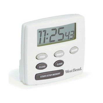 West Bend® 40055 Electronic Timer with Clock, White