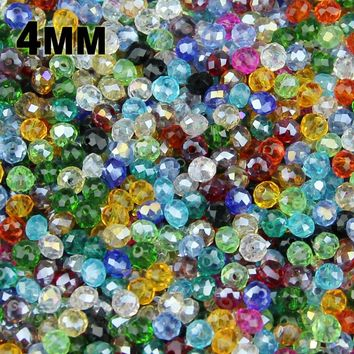 JHNBY 100pcs Round Shape Faceted Austrian crystals loose beads supply glass bracelet necklace Jewelry Making