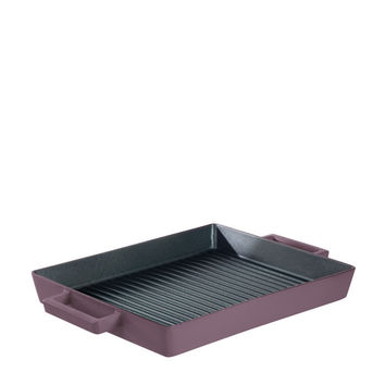 Terra Cotto Cast Iron Rectangular Grill Pan | Juniper