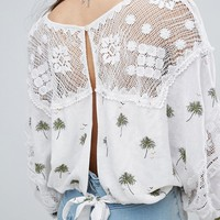 Free People Carolina Mindset Embroidered Top at asos.com