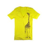 Oaklandish - Giraffe Women's Shirt, Yellow