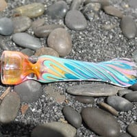 Inside out chillum hitter color changing glass by FarmhouseGlass