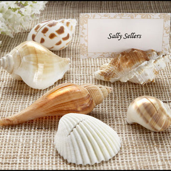Sea Shell Place Card Holders with Matching Place Cards