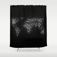 Tiny light spec in the great big universe Shower Curtain by Budi Satria Kwan