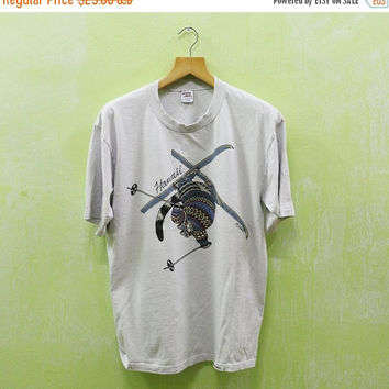 15% SALES Vintage BKliban Kliban Crazy Shirt Snow Ski Skiing Hawaii Surfing Aloha T shirt L