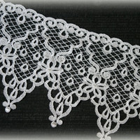 Lace Fabric Trim, Ivory Lace Fabric, Guipure Lace, Venice Lace, Bridal Lace, Lace Applique, Sewing Lace, Crafting Lace GL-002