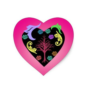 beautiful art heart sticker