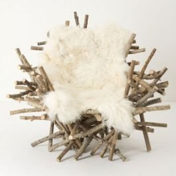 Branches & Fur Chair - Anthropologie.com