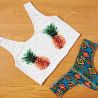 Pineapple pattern sexy swimsuit