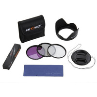 K&F Concept 52mm 3-pieces UV CPL FLD Filters Kit for Canon Nikon Lens Hood & Lens Cap with Keeper Holder = 1841742020