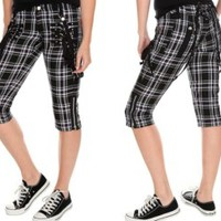 Tripp NYC Gothic Plaid Capri Pants - Buy Online Australia Tragic Beautiful