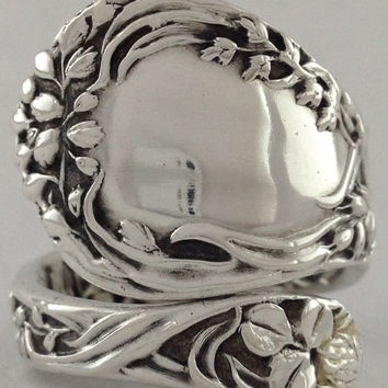 Size 7 Vintage Sterling Silver Gorham Spoon Ring