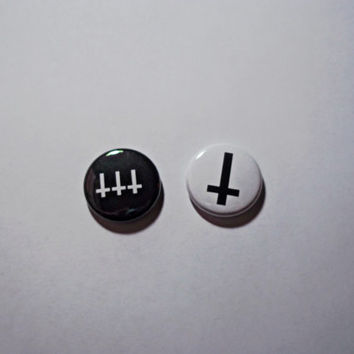 Inverted Cross Buttons // Evil satanic buttons
