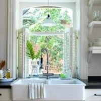 shutters and farmers sink