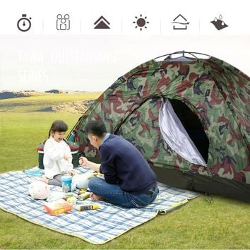 2 Person Waterproof Camouflage Dome Tent