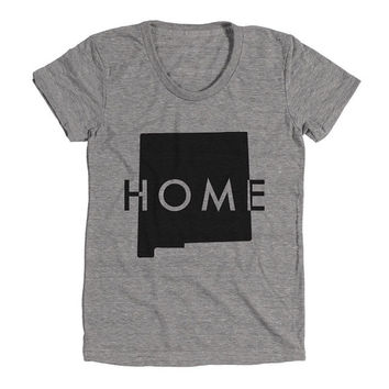 New Mexico Home Womens Athletic Grey T Shirt - Graphic Tee - Clothing - Gift