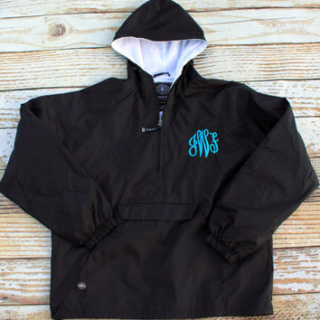 Monogrammed Windbreaker Rain Jacket - Lined