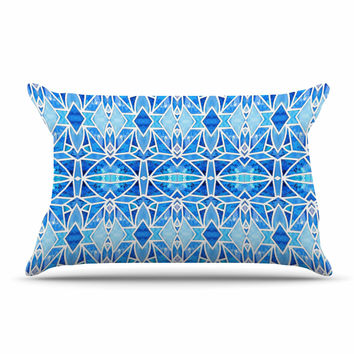 "Art Love Passion ""Blue Diamonds"" Blue Aqua Pillow Case"