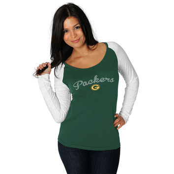 Green Bay Packers Women's Tri-Blend Slim Fit T-Shirt - Ash