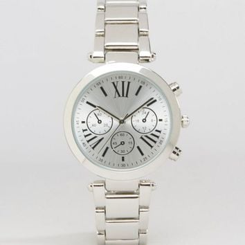 ASOS Sleek Silver Dial Watch at asos.com
