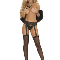 Sheer Garter Thigh High