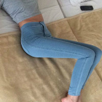 Pencil High Waist Women Jeans