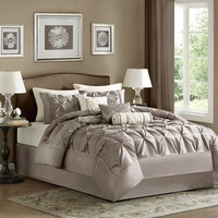 Madison Park Vivian 7-pc. Comforter Set (Beige/Khaki)