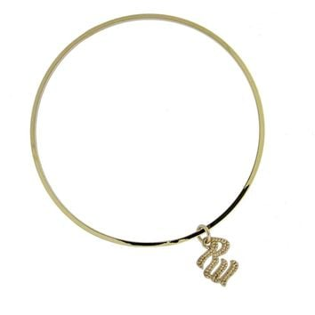 ROCAWEAR Gold Tone RW CHARM BANGLE Bracelet