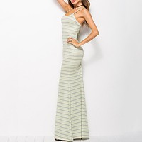 Sexy stripe women long dress Spagetti strap backless v neck long summer maxi dresses Holiday beach female vestidos