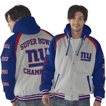 New York Giants Rookie of the Year Super Bowl Champions Commemorative Jacket - Ash/Royal Blue