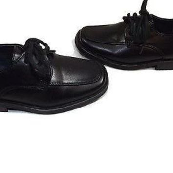 JOSMO Footwear BLACK Toddler Boys Dress Shoes Size 5.5 M