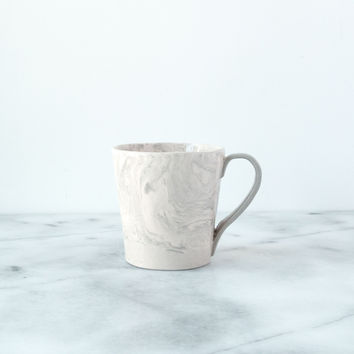 Stone Ebru Light Marble Ceramic Mug