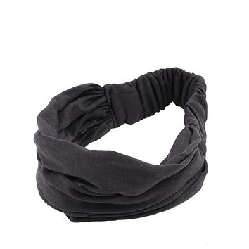 Fashion Woman Hair Accessories Elasticity Wide Ribbon Headband Hair Band Bandanas The cheapest products