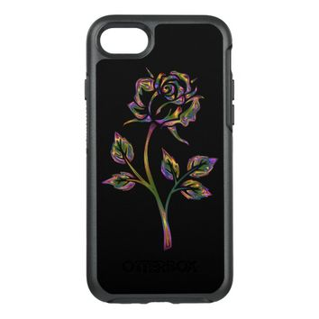 Spectacular colored rose OtterBox symmetry iPhone 7 case