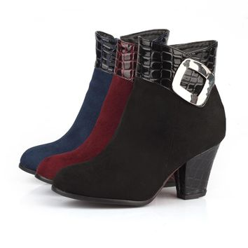 Womens Ankle Boots Low Heel