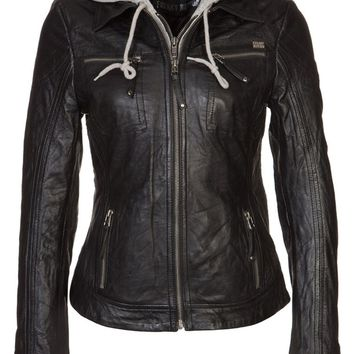 Freaky Nation JODIE - Leather jacket - black - Zalando.co.uk