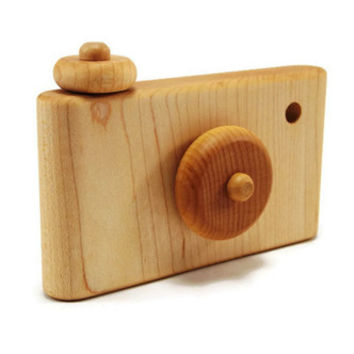 Handmade Retro Maple Wood Camera
