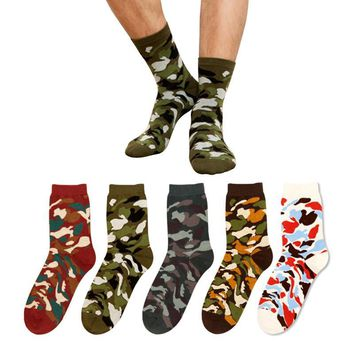 2017 New Winter Cotton Socks Men & Woman Cassic Men Camo SoldierSocks Tube In The Open Air Military socks