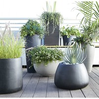 Zinc Large Floor Planter