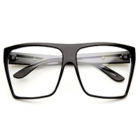 Super Oversize Square Clear Lens Fashion Glasses 8830