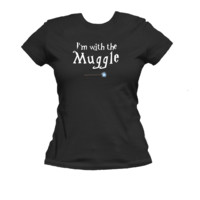 I\'m with the Muggle American Apparel Ladies T Shirt, Muggle Tee