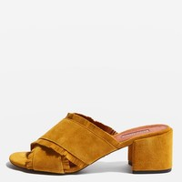 NANCY Fringe Mules