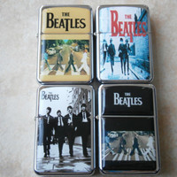 THE BEATLES Abby Lane Road Rock & Roll Band cigarette LIGHTER star hand finished design oil flip windproof lighter