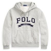 Polo ralph lauren street fashion men and women models hooded long-sleeved loose wild pullover sweater