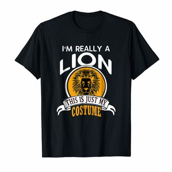 Lion Halloween Costume T-shirt This Is Just My Costume