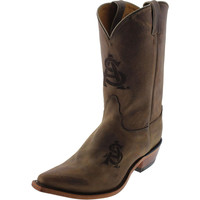 Nocona Boots Womens Arizona State Leather Branded Logo Cowboy, Western Boots