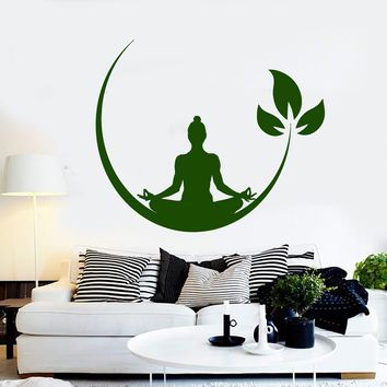 Vinyl Wall Decal Yoga Meditation Room Buddhist Zen Stickers Unique Gift (ig4132)