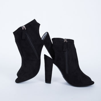 Cut Out Heeled Booties