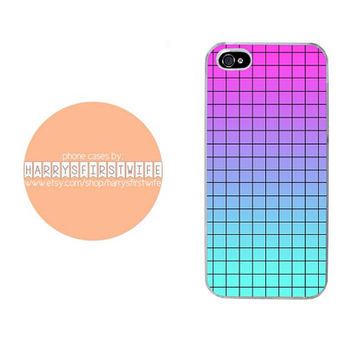 Pink and Blue with Lines iPhone 4/4s 5/5s/5c/6/6 plus iPod 4/5 & Galaxy S5 Case